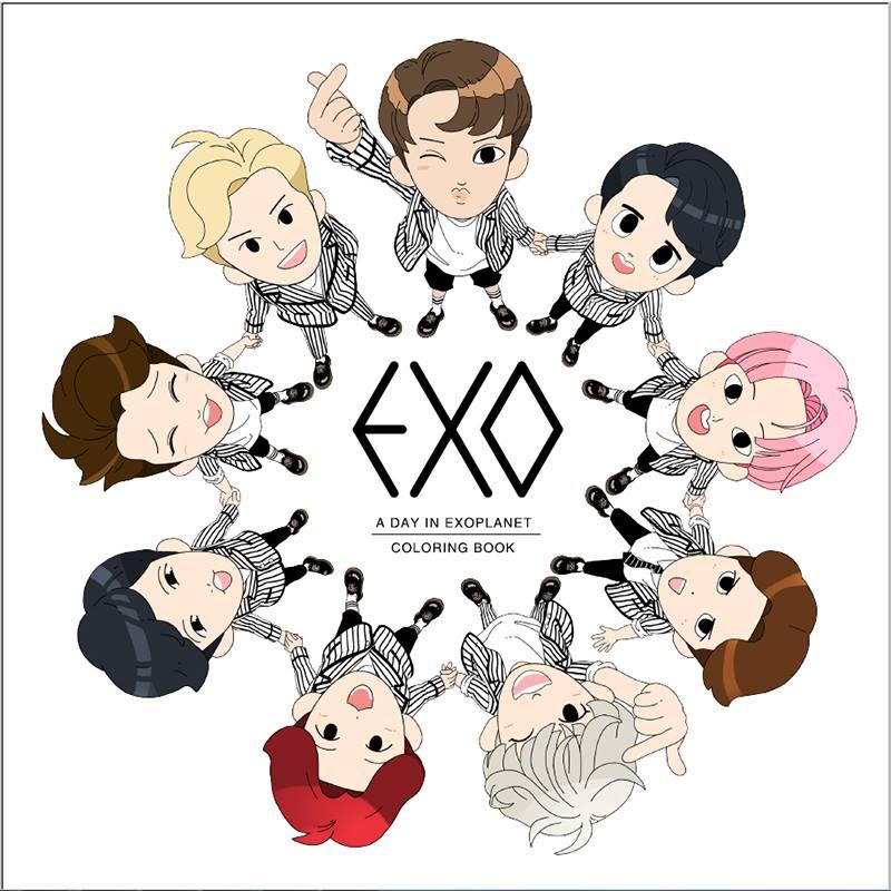 然後是正常時候可愛開朗的EXO~~~什麼是不正常時候呢,就是撇開還沒睡醒或被畫成圖畫的其他任何時候!!!