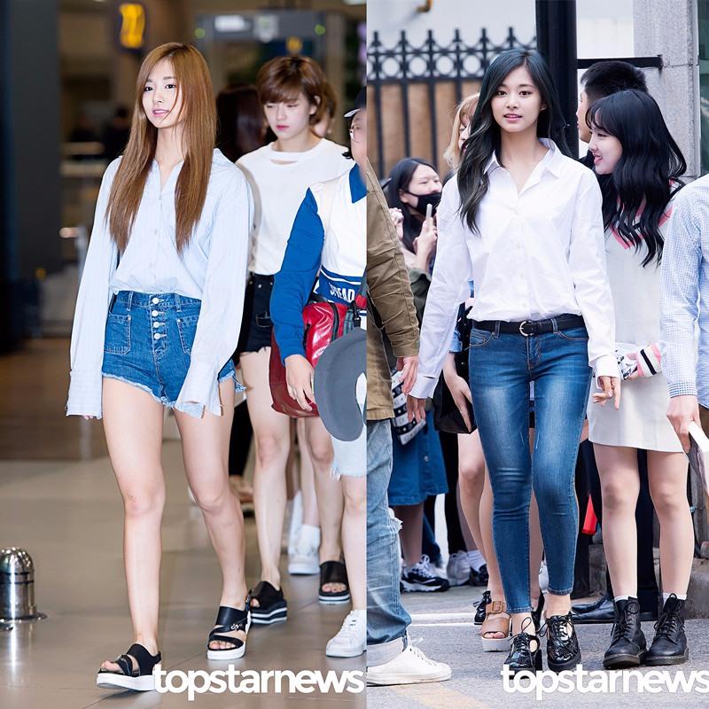 ♬子瑜:輕熟的帥氣風 忙內子瑜在穿搭上也偏輕熟風格,但與Mina不同的是子瑜走的是帥氣的Style,偏正式感的純色襯衫,搭配高腰丹寧短褲或者緊身長褲,都能充分發揮子瑜的長腿優勢。