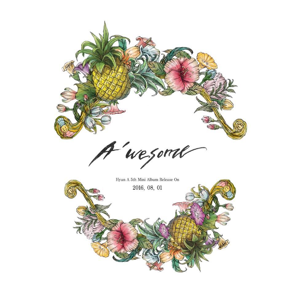 並在8月1日發行了第五張個人迷你專輯《A'wesome》,新曲一推出不僅橫掃了音源榜,也引起不少的話題!