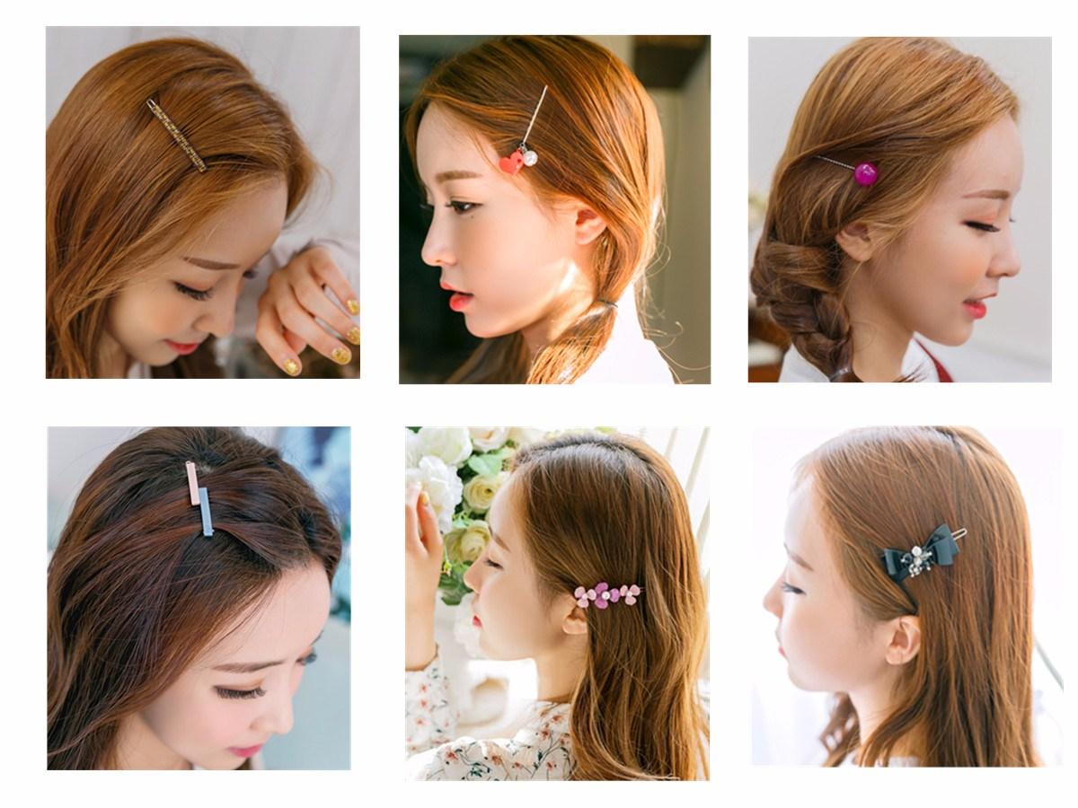 ◆Pointpin 髮夾都是簡單的心形、圓點、小花、蝴蝶結……等形狀。顏色上也很清新。