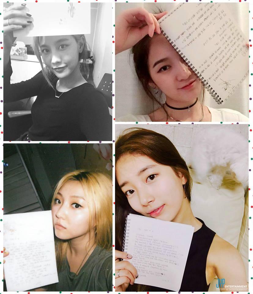 而且看看missA,雖然Jia離開missA但在她們的週年之際Jia一樣用手寫信向say A虞上感謝,雖然離團但是情意在,依舊惦記著陪著她們一路走來的粉絲,想必還是想當讓粉絲感動的。