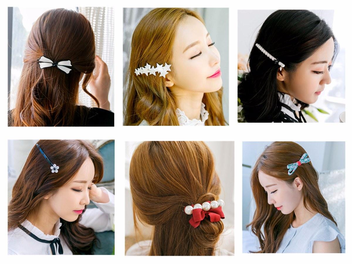 ◆Barrette 方形髮夾多是珍珠和蕾絲設計,看上去都很淑女風格。