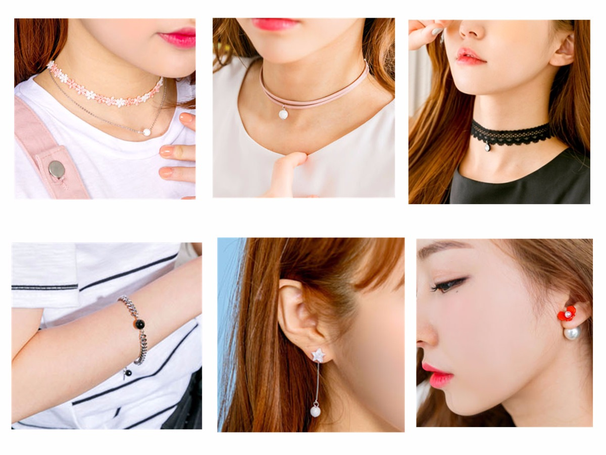 ◆Jewelry 首飾方面最熱賣的就是短頸鏈了,除了經典的單股黑色款,也有多種顏色的雙股款,再加上珍珠吊墜。