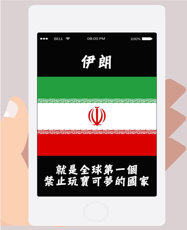 在伊朗上市的遊戲都需經過申請,且伊朗要求伺服器要在國內傳輸,但沒有得到遊戲公司回應,因此以安全問題為由禁止寶可夢上市