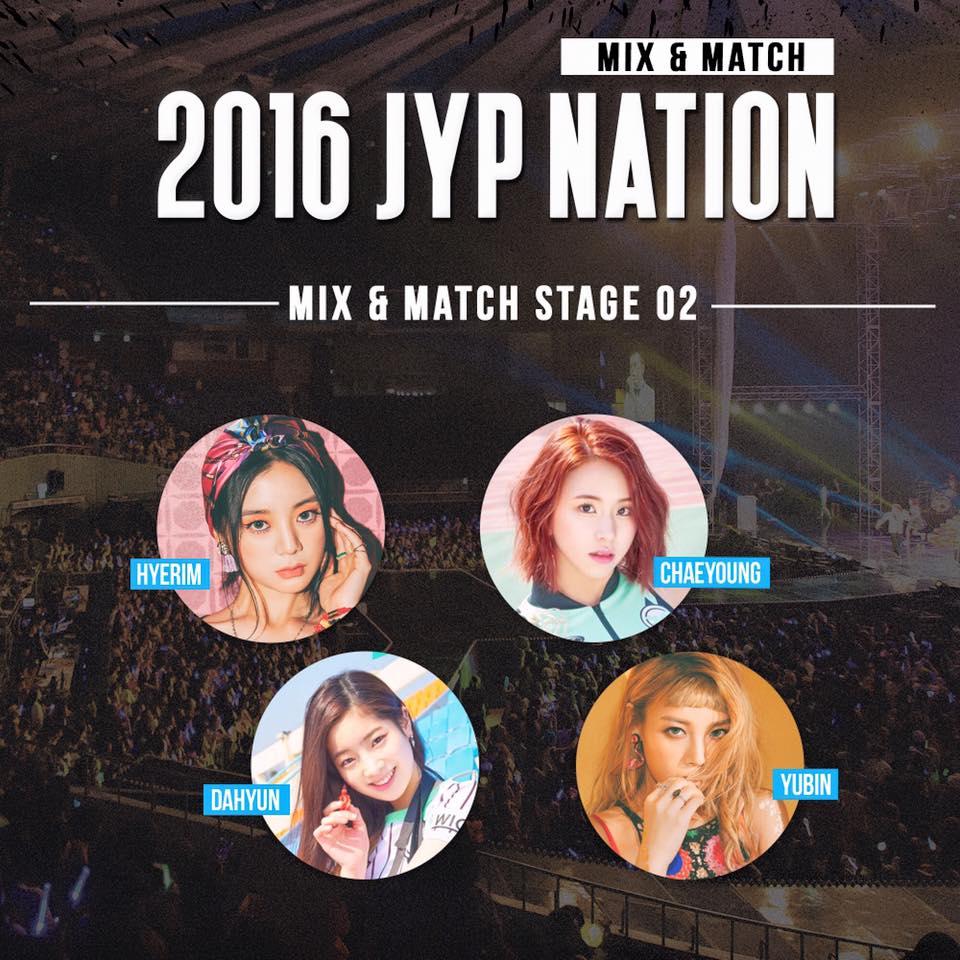 像是由WG的Yubin、惠琳,再加上TWICE的彩瑛、多賢組成JYP難得一見的Rapper Line也是讓粉絲期待的原因。