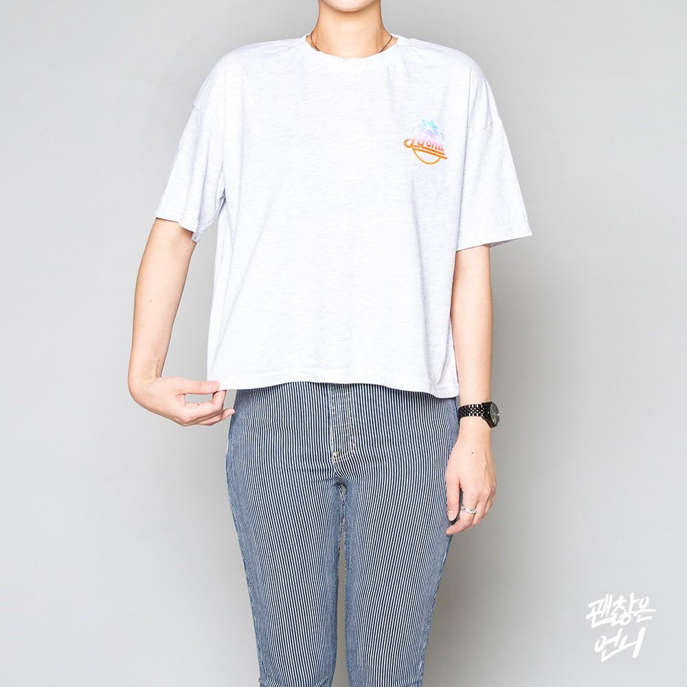 ▶ 衣長 在網路上買T-shirt的話一定要注意看詳細尺寸的理由就是它!