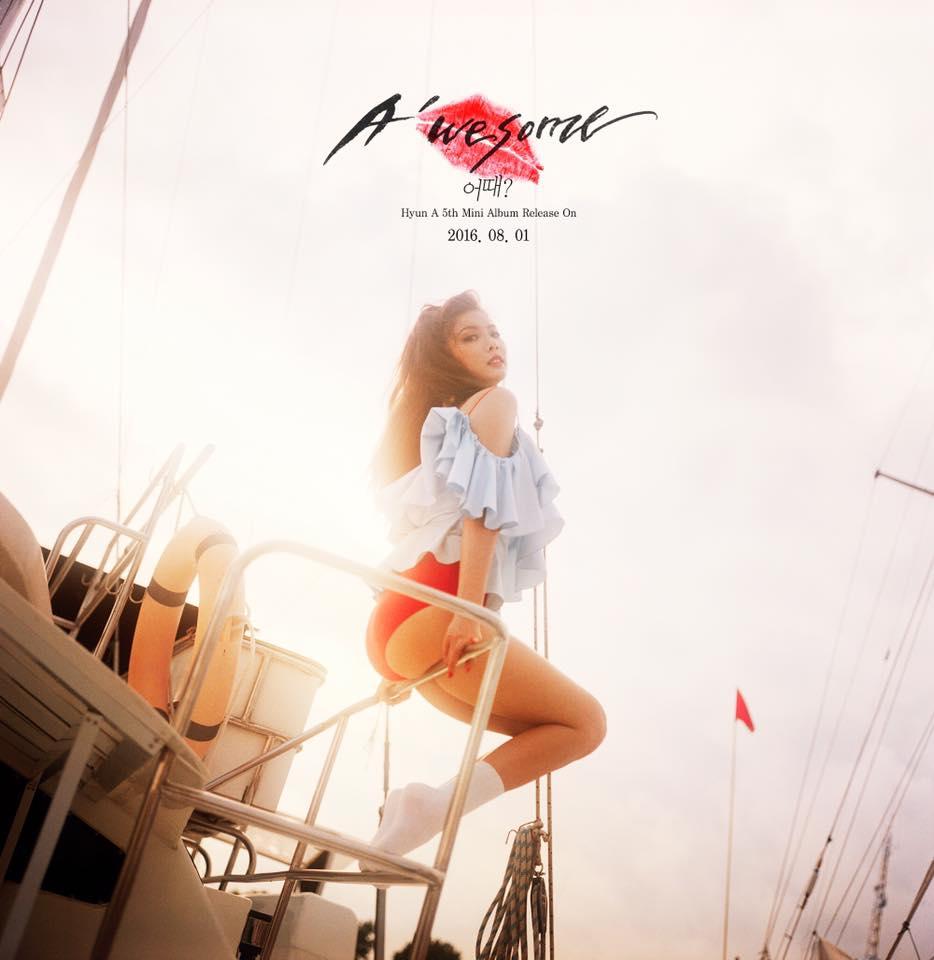 泫雅新專輯《A'wesome》正在如火如荼的宣傳,不但勤跑音樂節目打歌~