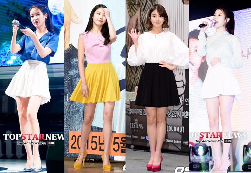 百褶裙讓人猜不出你的年紀XD...百褶裙一直都是很減齡的時尚單品,搭件襯衫,腳踩高跟鞋,秀出大長腿,當然裙子越短就越顯腿長噢^^