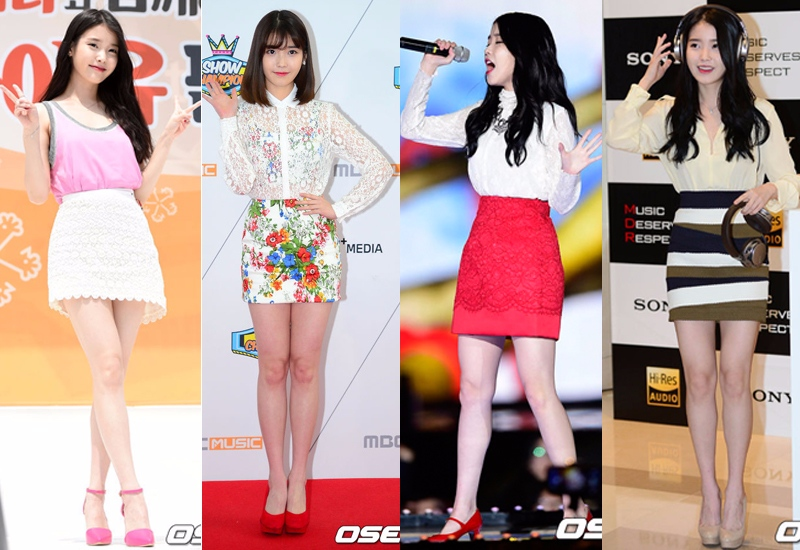 H-line短裙,無論是搭配無肩T,還是淑女系的襯衫,都會讓人看起來更加嬌小可人,最重要的是搭一雙高跟鞋,小女人味十足,還有增高的效果呢~