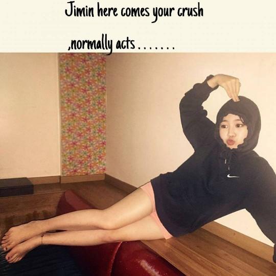 原因就是朴智敏驚人的變身啦!光看這雙腿,就能感受到朴智敏瘦了多多,韓國網友們也說朴智敏這次減肥大成功!